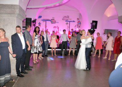 Verabschiedung Tanz Brautpaar mit Band Voices And Music