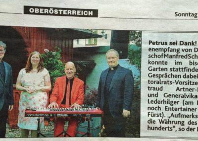 Medienempfang bei Bischof Scheuer OÖ KRONE, Klavier Christian Fürst