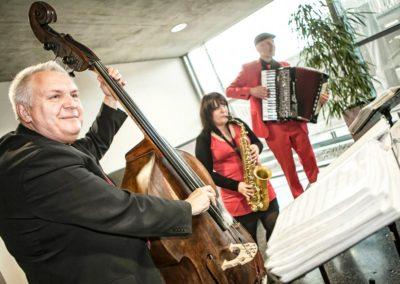 Unplugged Trio, Voices And Music , Saxofon, Akkordeon, Kontrabass