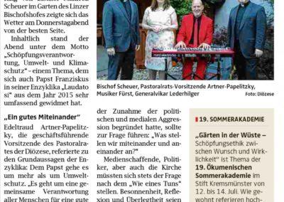 Medienempfang bei Bischof Scheuer OÖN, Klavier Christian Fürst Linz Oberösterreich