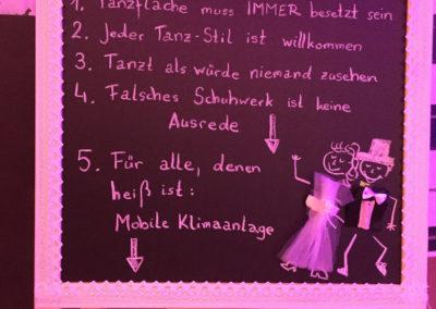 Dancefloor-Regeln