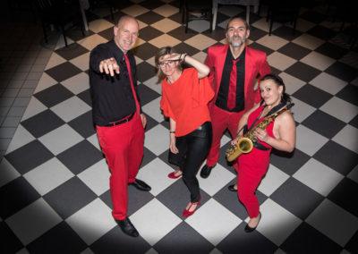 quartett voices and music vor auftritt