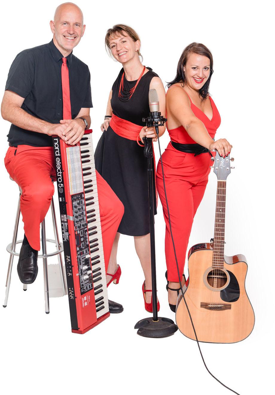 Repertoire für Hochzeit Firmenfeier Geburtstagsfeier Ballmusik mit Sängerin Gitarre Saxofon Keyboard, Trio bis Quintett Voices and Music