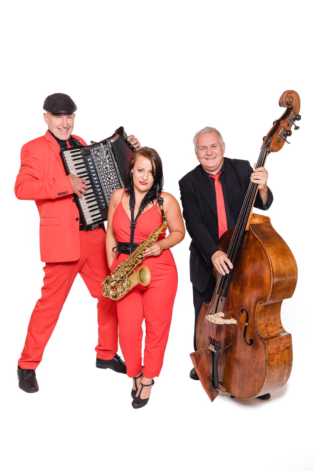 Unplugged-Trio Akkordeon, Saxofon, Kontrabass