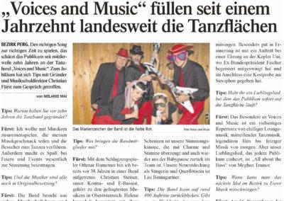 Zeitung Tips Perg tanzband hochzeitsband voices and music