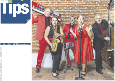 Zeitung Tips Perg voices and music, live band, Livemusik