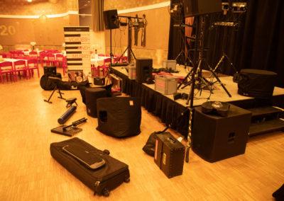 Aufbau des Band Equipment