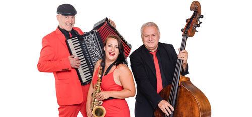 Voices And Music - Unplugged Trio mit Saxofon, Akkordeon, Kontrabass