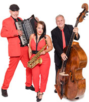 repertoire unplugged trio voices and music, saxofon, akkordeon, kontrabass