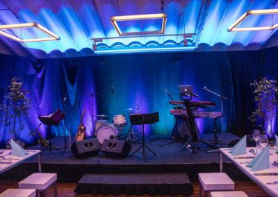 VoicesAndMusic Firmenevent schöne Lichtstimmung, professioneller Auftritt, bands, tanzband