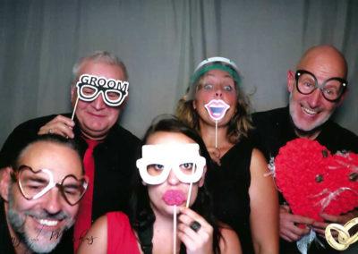 Fotobox bei Weddingparty mit Hochzeitsband Voices And Music