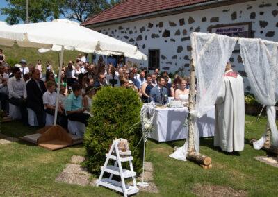 kirchliche Trauung am Event Bauernhof Abbrandnergut Trauungsmusik
